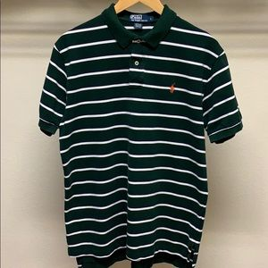 Polo by Ralph Lauren Green White Striped Polo